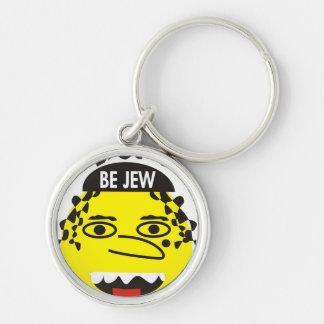 Don´t Worry be Jewish Keychain