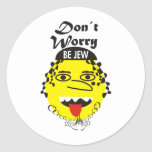 Don´t Worry be Jewish Round Stickers