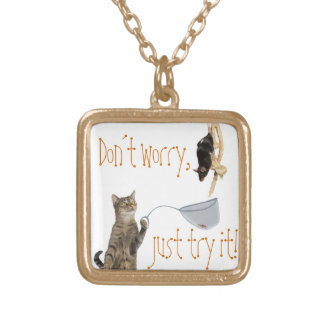 Don´t worry, just try it! gold plated necklace