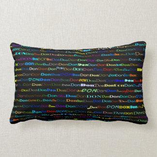Don Text Design I Lumbar Pillow