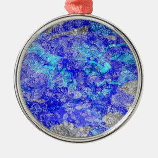 Don The Silk Blue Vangogh Metal Ornament