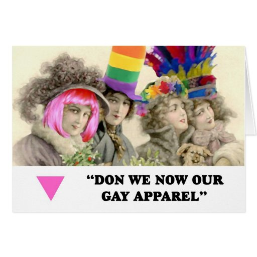 Don We Now Our Gay Apparel Christmas Cards