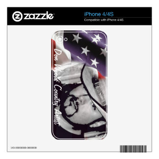 Don Woods Country Artist Decal For The iPhone 4S