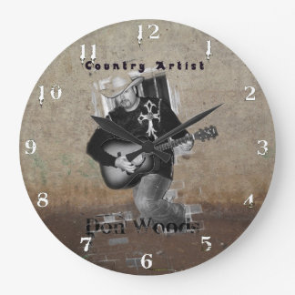 Don Woods Country Artist Large Clock