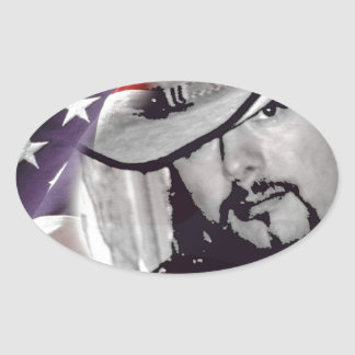 Don Woods Country Artist Oval Sticker
