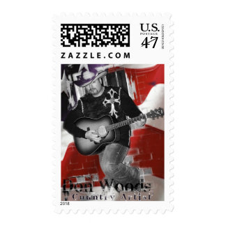 Don Woods Country Artist Postage Stamp