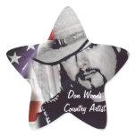 Don Woods Country Artist Star Sticker