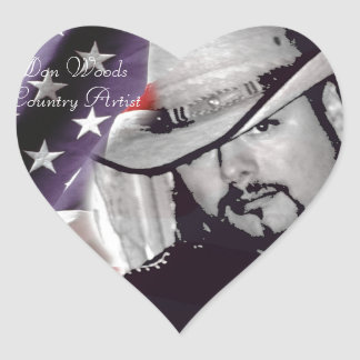 Don Woods Country Artist Stickers