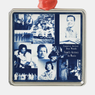 Don Woods History In Music Square Metal Christmas Ornament