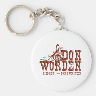 Don Worden Singer ~ Songwriter Basic Button Keycha Basic Round Button Keychain