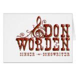 Don Worden Singer ~ Songwriter Cards