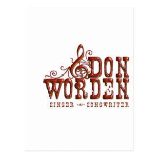 Don Worden Singer ~ Songwriter Postcard