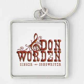 Don Worden Singer ~ Songwriter Silver-Colored Square Keychain