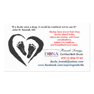 DONA Certified Birth Doula Card