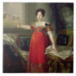 Dona Maria Isabel de Braganza, 1829 de la reina (a Azulejo Cuadrado Grande