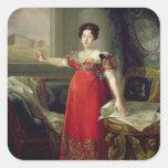 Dona Maria Isabel de Braganza, 1829 de la reina Pegatina Cuadrada