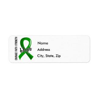 Donación de órganos de la esperanza 5 de la fe del etiquetas de remite