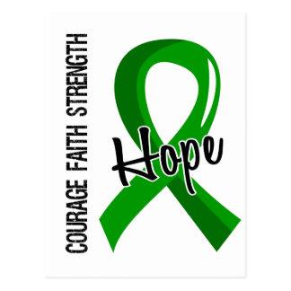 Donación de órganos de la esperanza 5 de la fe del postales