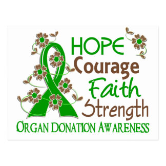 Donación de órganos de la fuerza 3 de la fe del postal