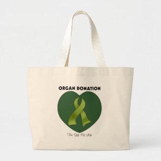 Donación de órganos: El regalo de la vida Bolsa Tela Grande