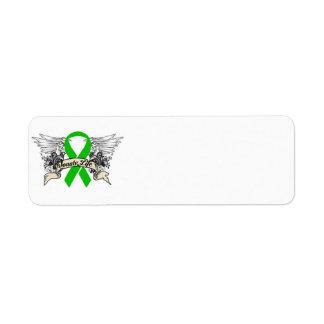 Donación de órganos etiqueta de remite