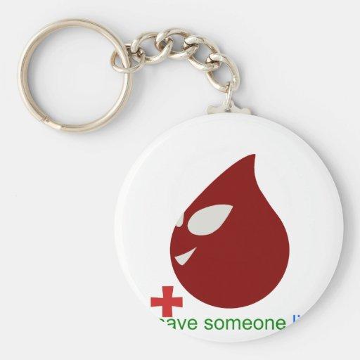 donación de sangre llavero redondo tipo pin