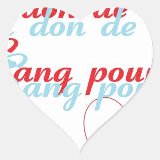 Donación del SANG1.png Pegatina En Forma De Corazón