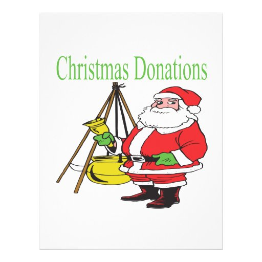"""Donaciones del navidad folleto 8.5"""" x 11"""""""