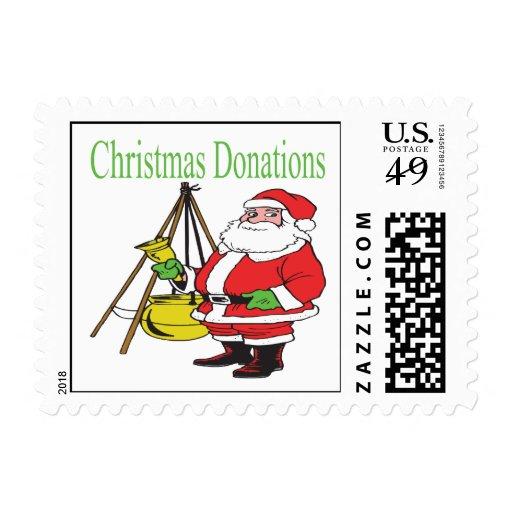 Donaciones del navidad sellos