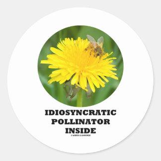 Donadora de polen idiosincrásica dentro de la pegatinas redondas