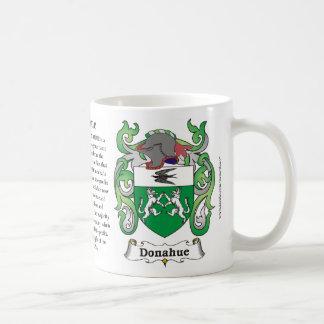 Donahue, el origen, el significado y el escudo enc taza básica blanca