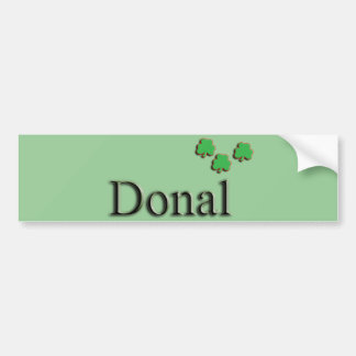 Donal Irish Name Car Bumper Sticker