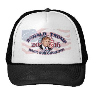 Donald 2016 J. Trump Take nuestro país Gorras De Camionero