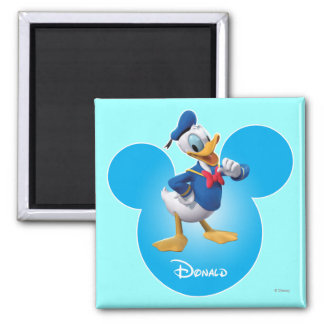 Donald Duck 2 Inch Square Magnet