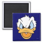 Donald Duck   Angry Face Closeup 2 Inch Square Magnet