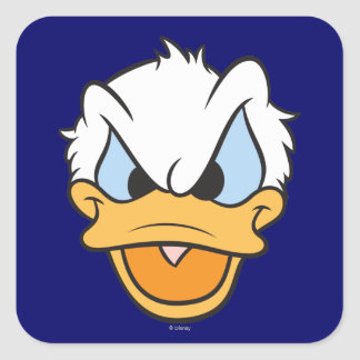 Donald Duck | Angry Face Closeup Square Sticker