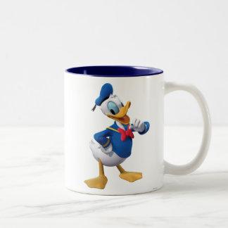 Donald Duck | Arm Up Two-Tone Coffee Mug