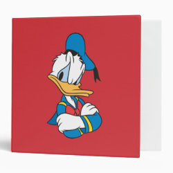 Avery Signature 1' Binder with Classic Angry Donald Duck  design