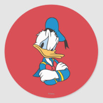 Donald Duck | Arms Crossed Classic Round Sticker