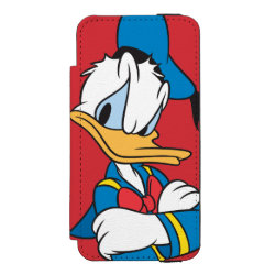 Incipio Watson™ iPhone 5/5s Wallet Case with Classic Angry Donald Duck  design