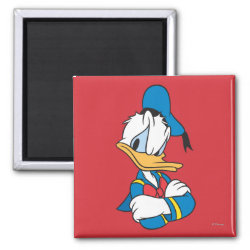 Square Magnet with Classic Angry Donald Duck  design