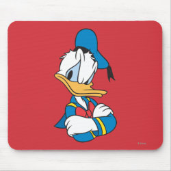 Mousepad with Classic Angry Donald Duck  design