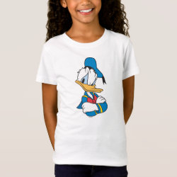Girls' Fine Jersey T-Shirt with Classic Angry Donald Duck  design