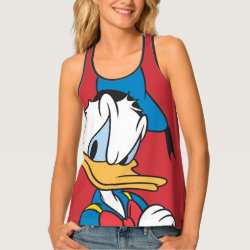 Women's All-Over Print Racerback Tank Top with Classic Angry Donald Duck  design