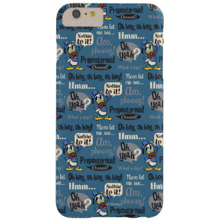 Donald Duck Blue Pattern Barely There iPhone 6 Plus Case