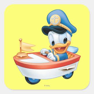 Donald Duck | Boat Baby Square Sticker