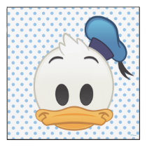 Donald Duck Emoji Wood Print