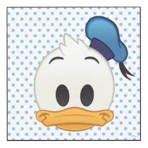 Donald Duck Emoji Wood Print