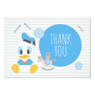 Donald Duck | First Birthday Thank You Card