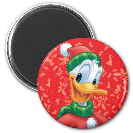 Donald Duck in Winter Clothes 2 Inch Round Magnet